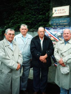 Commémoration 16 juillet 2001 à Montigny les Vesoul