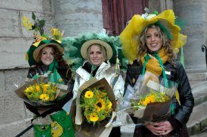 Fanny Quiclet entourée de Cécile Morel (2e) et Amandine Lambert (3e)