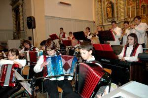 Lors du concert avec de jeunes accordéonistes