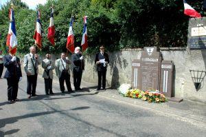 Lors de l'hommage rendu par le préfet Francis Lamy.