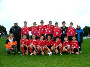 L'équipe des moins de 15 ans du FC du Lac.