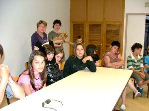 Les jeunes Montinois lors de la réunion à la salle de la Bergère.
