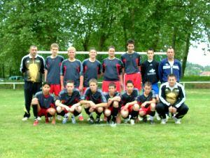 L'équipe des moins de 15 ans.