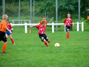 Nicolas Henrique en action. Au second plan : Gaëtan Saintjore.