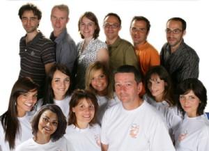 Caroline Sery (2e au bas en partant de la gauche)