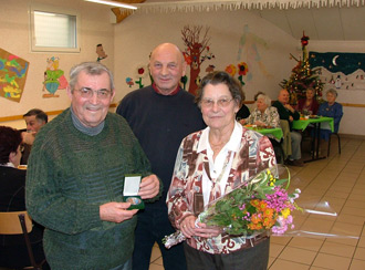 Médaille de la commune pour Maurice Gillot ancien Maire