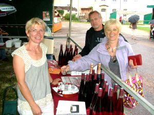 Le vin de César de Chariez présenté par Mme Guillaumot.