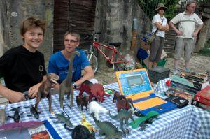 Sur le stand de Paul et Adrien.