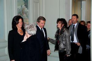 Sylvia Rougeot qui tient le salon un salon de coiffure à Vesoul a salué M. et Mme Joyandet.